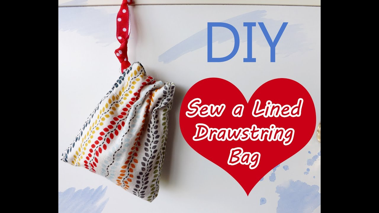 DIY: How to Sew a Lined Drawstring Bag Tutorial {Sew Easy Please ...