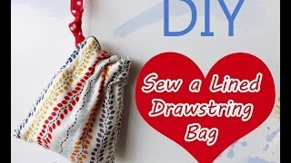 DIY: How to Sew a Lined Drawstring Bag Tutorial {Sew Easy Please}