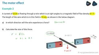 OCR 9-1 Physics: The Motor Effect DA