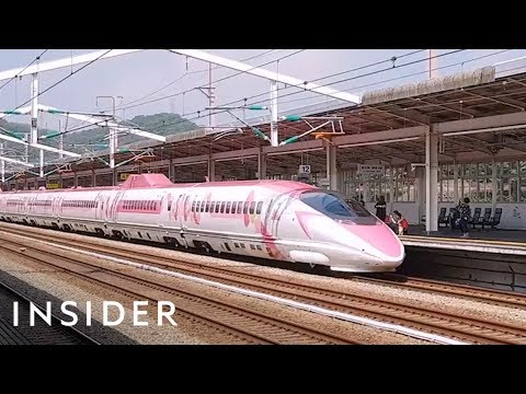 What It's Like To Ride Japan's Hello Kitty Bullet Train