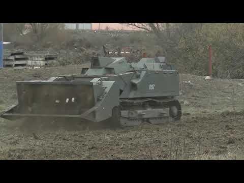 Применение робота разминирования «Уран-6» при инженерной разведке в Нагорном Карабахе