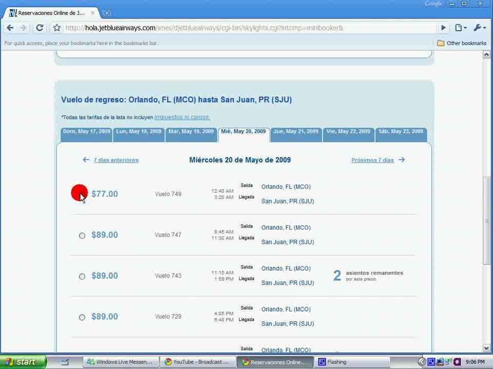 comprar pasaje aereo por Internet - YouTube