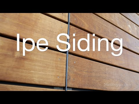 Ipe Wood Siding - Open Joint Rain Screen w Delta Fassade S