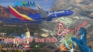 SouthWest PMDG 737-700 flies KSLC - KDEN for FNO on Vatsim