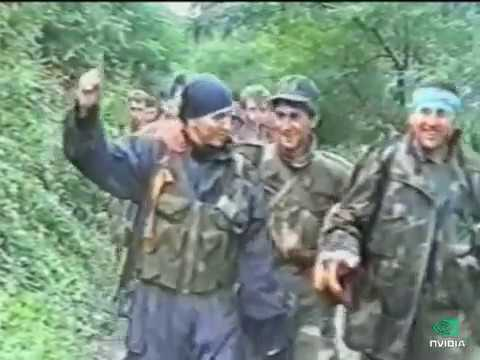Bosniaks captured the russian flag (Vozuca 1995) ruska zastava