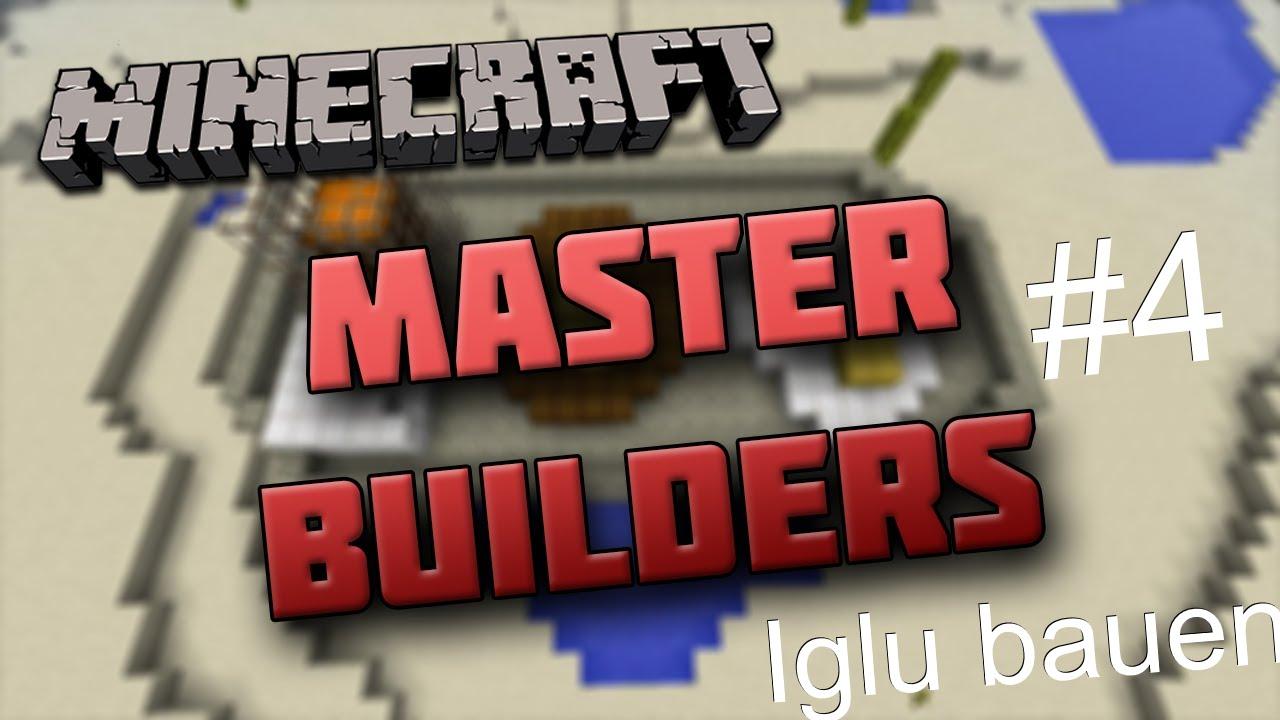 Minecraft Master Builders Iglu Bauen HD YouTube - Minecraft lustige hauser
