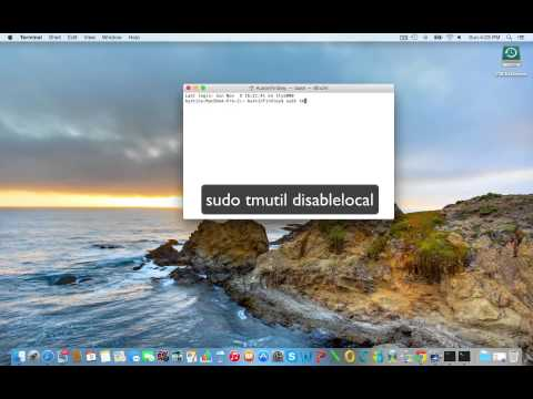 How to remove local backups on Mac OS X Yosemite