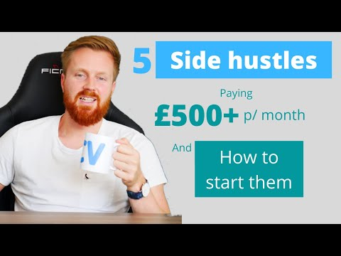 5 side hustle ideas to earn money quickly  + how to start them [UK edition]