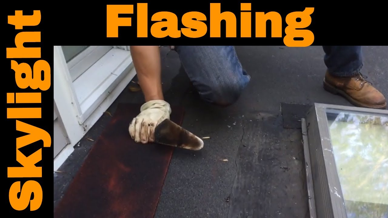 How To Properly Fix Skylight Flashing On A Flat Roof In