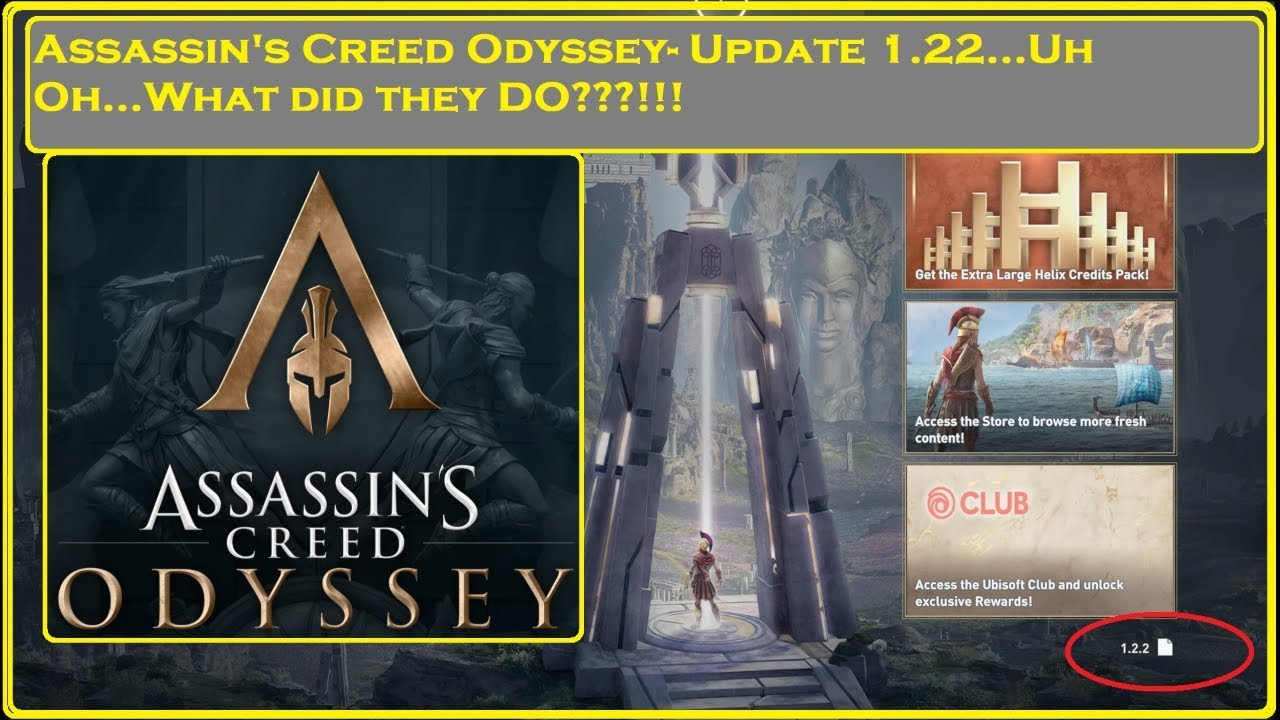Assassin's Creed Odyssey - Update 1 22   Uh oh