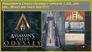 Assassin's Creed Odyssey - Update 1.22...Uh oh...