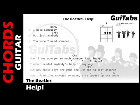 The Beatles - Help! ( Lyrics and GuiTar Chords ) 🎸
