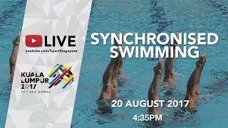 Synchronised Swimming Duet Free Final | 29th SEA Games 2017