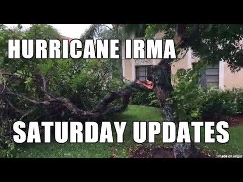 Hurricane Irma Saturday 5, 6, 7 PM Updates