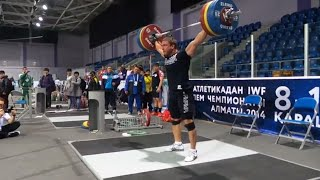 Dmitry Klokov - Full Snatch 200 kg (440 lb) in Kazakhstan, Almaty