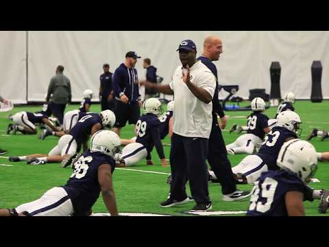 Penn State football holds first spring practice at Holuba Hall