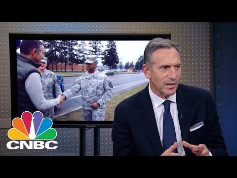 Starbucks CEO Howard Schultz: Hiring Veterans | Mad Money | CNBC