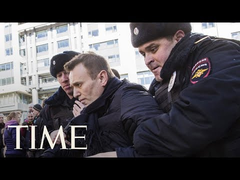 Russian Opposition Leader Alexei Navalny Arrested Outside Of Home In Moscow Ahead of Protest | TIME
