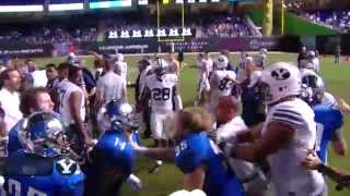 The Brawl: BYU and Memphis football fight at the Miami Beach Bowl
