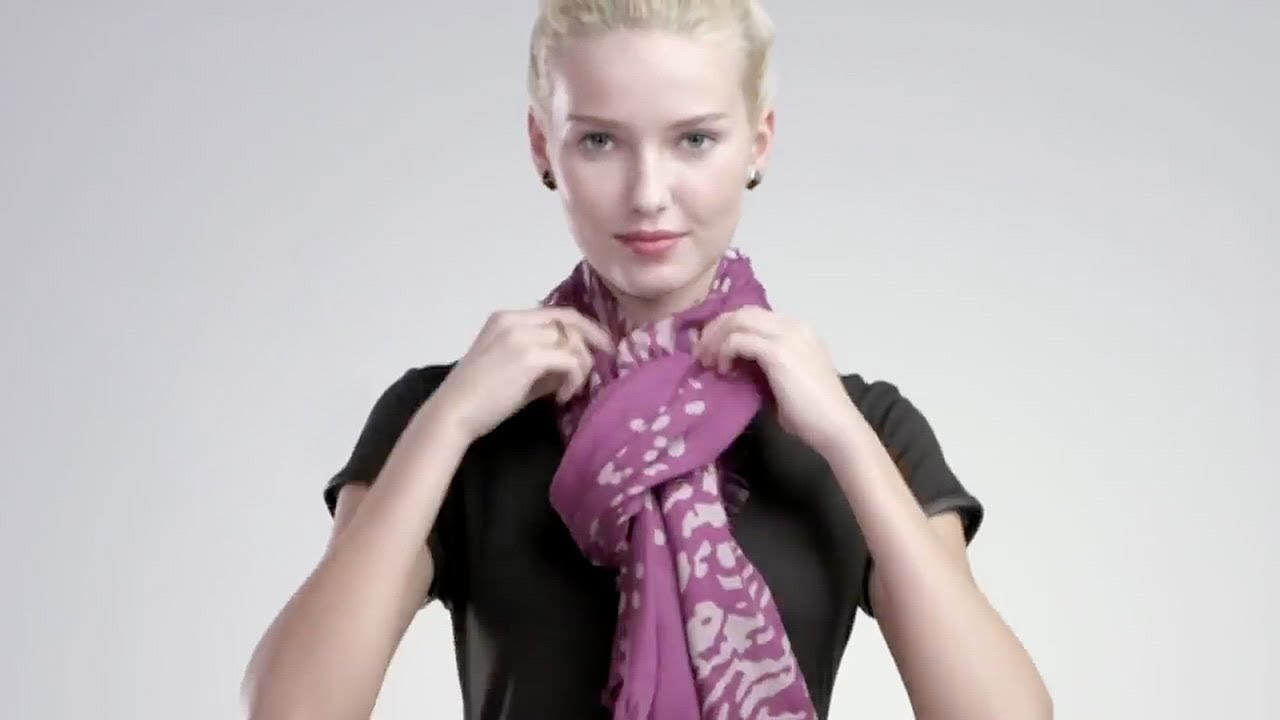 How to tie a scarf 4 scarves 16 ways youtube ccuart Images