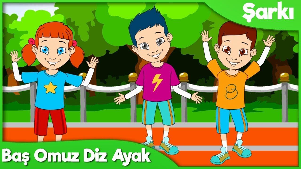 BAŞ OMUZ DİZ AYAK Türkçe Çocuk Şarkısı   Okul Öncesi ve Anaokulu Çocuk Şarkıları 2018