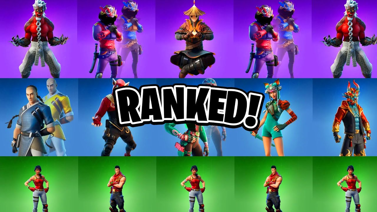 Top 10 Lunar New Year Fortnite Skins Fortnite Skins Ranked Youtube