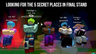 Dragon Ball Z Final Stand 5 Secret Places
