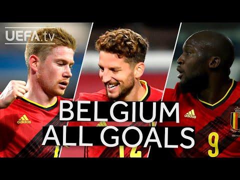 DE BRUYNE, MERTENS, LUKAKU: BELGIUM 2020/21 #UNL Group Stage All GOALS!!