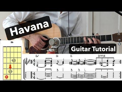 Havana - Camila Cabello ft Young Thug // Guitar Tutorial