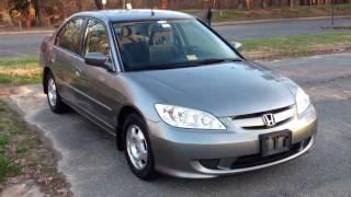 2005 Honda Civic Hybrid Manual Review, Walk Around, Start Up & Rev, Test Drive