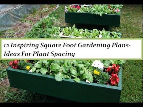 12 Inspiring Square Foot Gardening Plans Ideas YouTube – Planning A Square Foot Garden