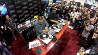 Dj Rhettmatic And Dj Shortkut Killing it @NAMM 2013