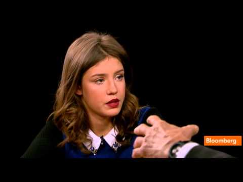 Adèle Exarchopoulos in The Charlie Rose  on PBS 12.11.2013