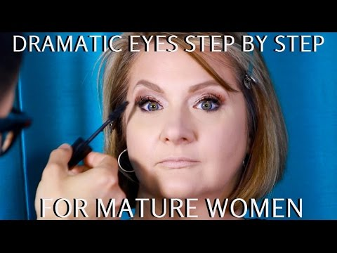 Dramatic Eyes for Mature Women Over 40 Step by Step Makeup Tutorial