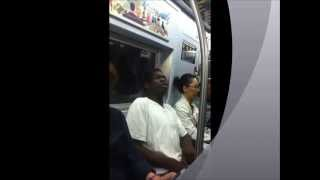 ANGRY BLACK MAN ON NYC SUBWAY HATES WOMEN!