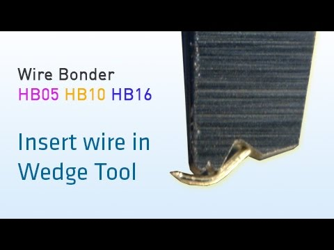 How To Thread Wire To Wedge Tool
