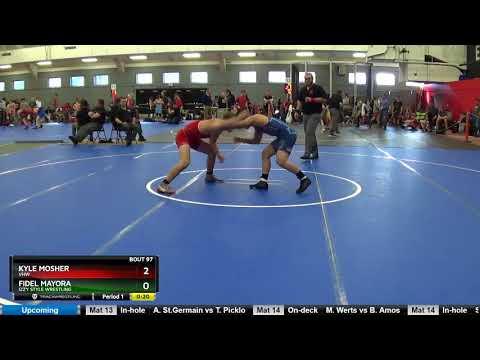 UWW Cadet Freestyle 71 KG Kyle Mosher VHW Vs Fidel Mayora Izzy Style Wrestling