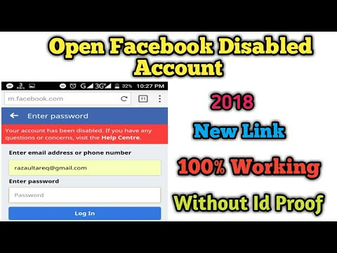 How can i open facebook without phone number and email