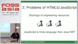Problems of Japan's enterprise HTML5 & how to resolve it with hifive - Atsushi N. - FOSSASIA 2017