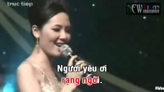 Karaoke Cơn mưa tình yêu (thieu giong nu)
