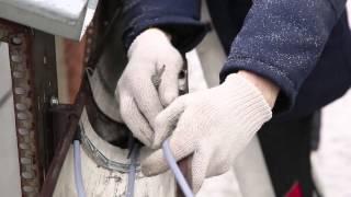 Обогрев кровли, желобов и водостоков электро кабель ЧТК(Видео инструкция по монтажу нагревательного кабеля