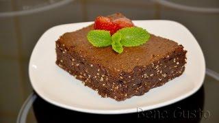 Шоколадный пирог Брауни с кунжутом и васаби (видео рецепт)