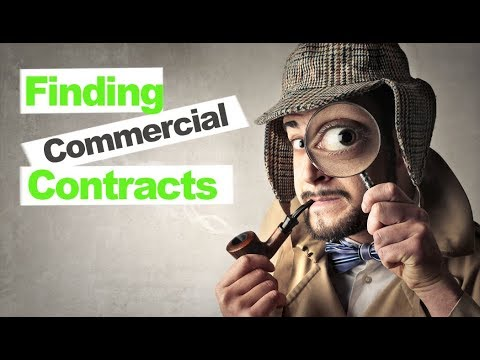 How to Find and Win Commercial Contracts without Paying for Ourside Services