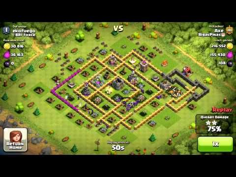 Clash of Clans Gameplay - Archer Queen A.I
