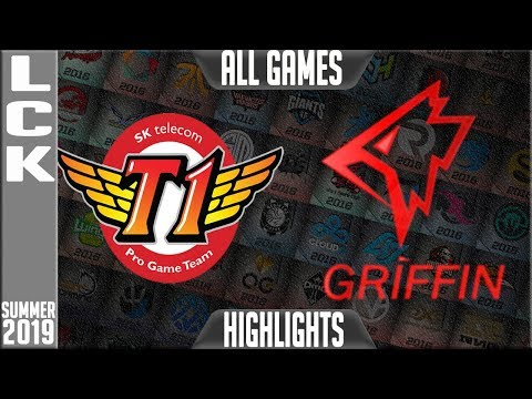 SKT vs GRF Highlights ALL GAMES | LCK Summer 2019 Week 3 Day 4 | SK Telecom T1 vs Griffin