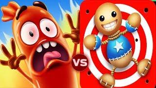 Kick The Buddy vs Run Sausage Run All Machines Funny Gameplay
