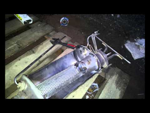 Volvo D5 DPF removal and making it to silencer