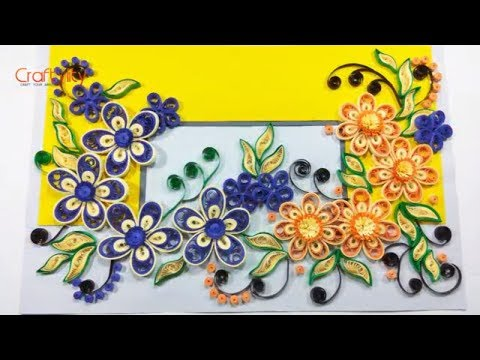 DIY 3D Malaysian Paper Quilling Flower card | How to make Quilling Flower card for Beginners
