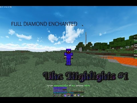 Hypixel UHC Highlights #1| {MINING FULL DIAMOND UNDER 15MINS}| LOSING TO HIGH STARS CROSS TEAMING!|