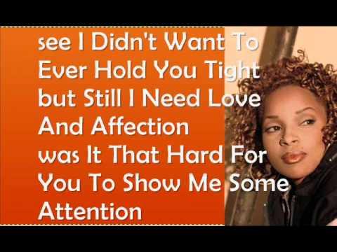 Mary J Blige - Changes I've been Going Through LYRICS